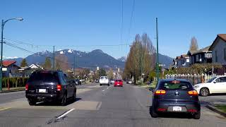 Driving from Vancouver to Horseshoe Bay Ferry Terminal / Village - West Van BC Canada