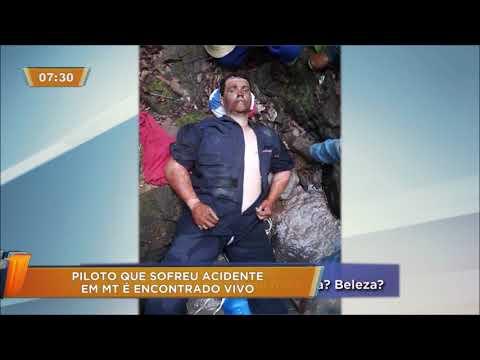 Piloto que sofreu acidente é encontrado vivo