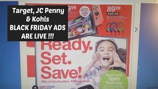 Target, JC Penny, & Kohls BLACK FRIDAY ADS ARE LIVE 2018 !!