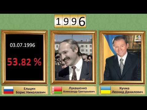 Как менялись президенты в России, Украине, Белоруссии с 1991 года.