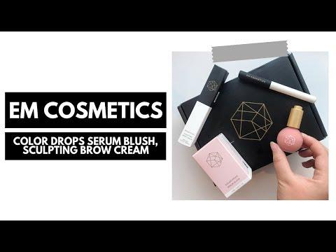 em cosmetics first impressions · color drops serum blush   sculpting brow cream