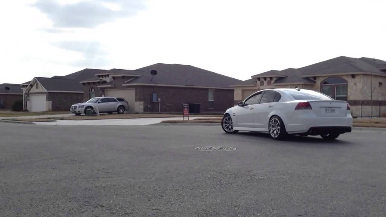 pontiac g8 with ctsv wheels installed youtube. Black Bedroom Furniture Sets. Home Design Ideas