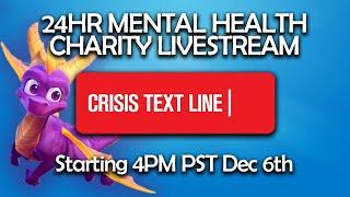 24 Hour Mental Health Charity Livestream! — Crisis Textline
