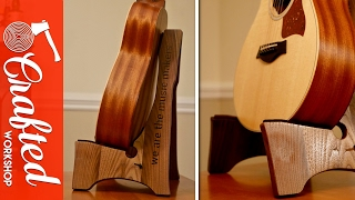 This DIY guitar stand woodworking project is a great beginner build. You only need a few simple tools, a jigsaw and a drill, to build ...