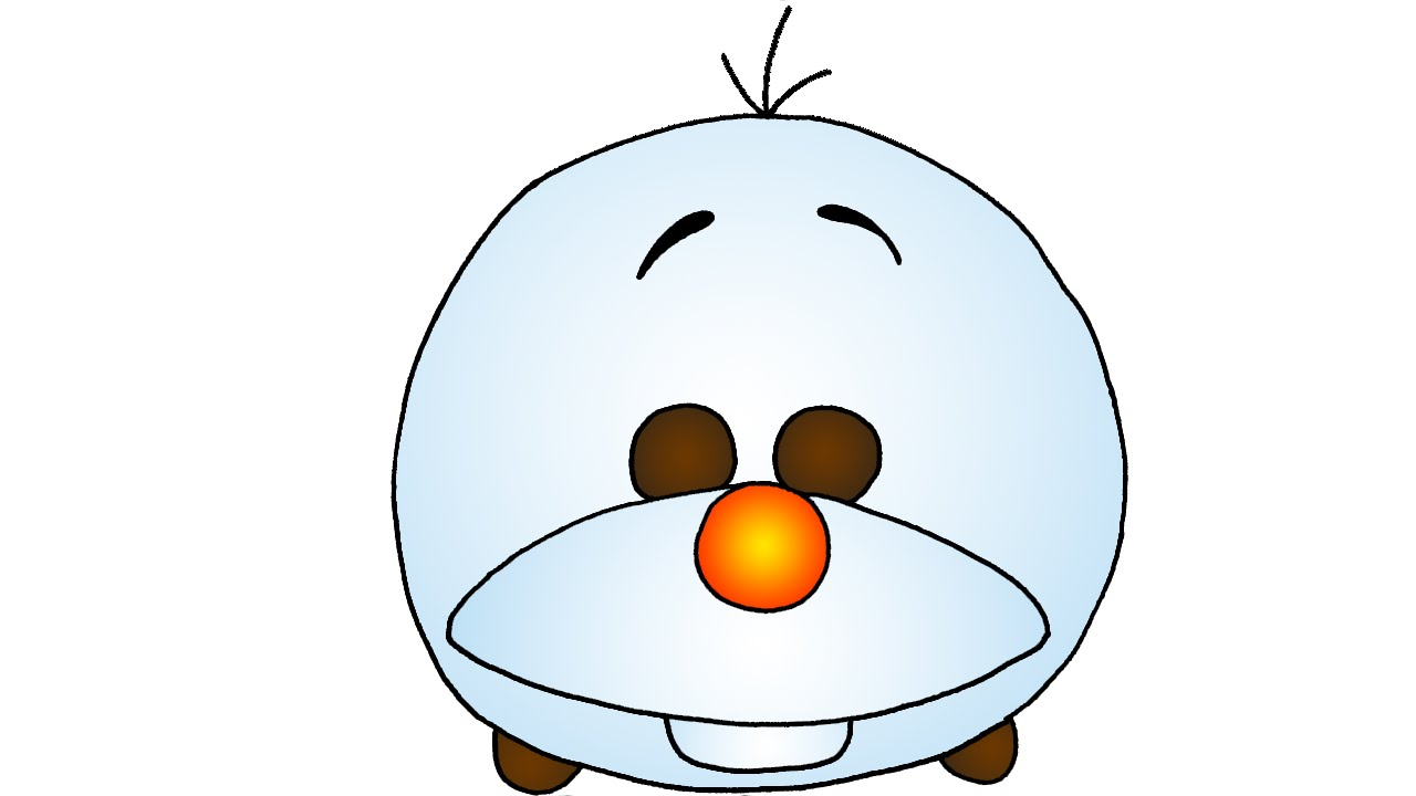 How to Draw Cute Olaf from Frozen Disney Tsum Tsum - YouTube