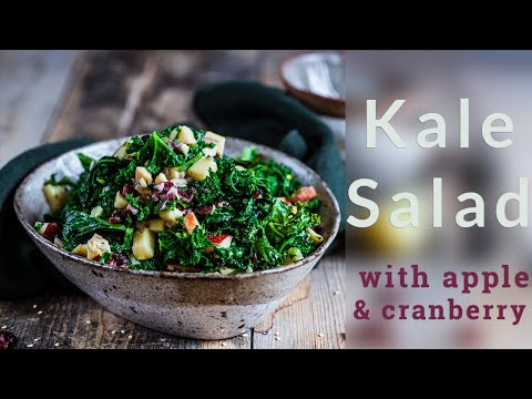 Kale Salad With Apple & Cranberry