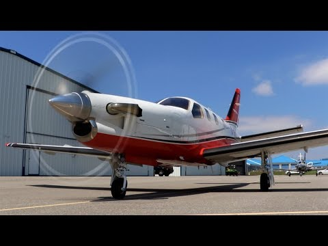 TBM850: Flying Fast, Far, and High! Mini Airliner - RVSM FL300 + Tough CrossWind Landing