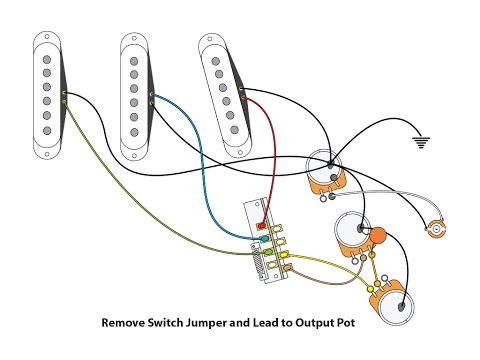 50's or Vintage Style wiring for a Stratocaster - YouTube Fender Clic Player S Stratocaster Wiring Diagram on