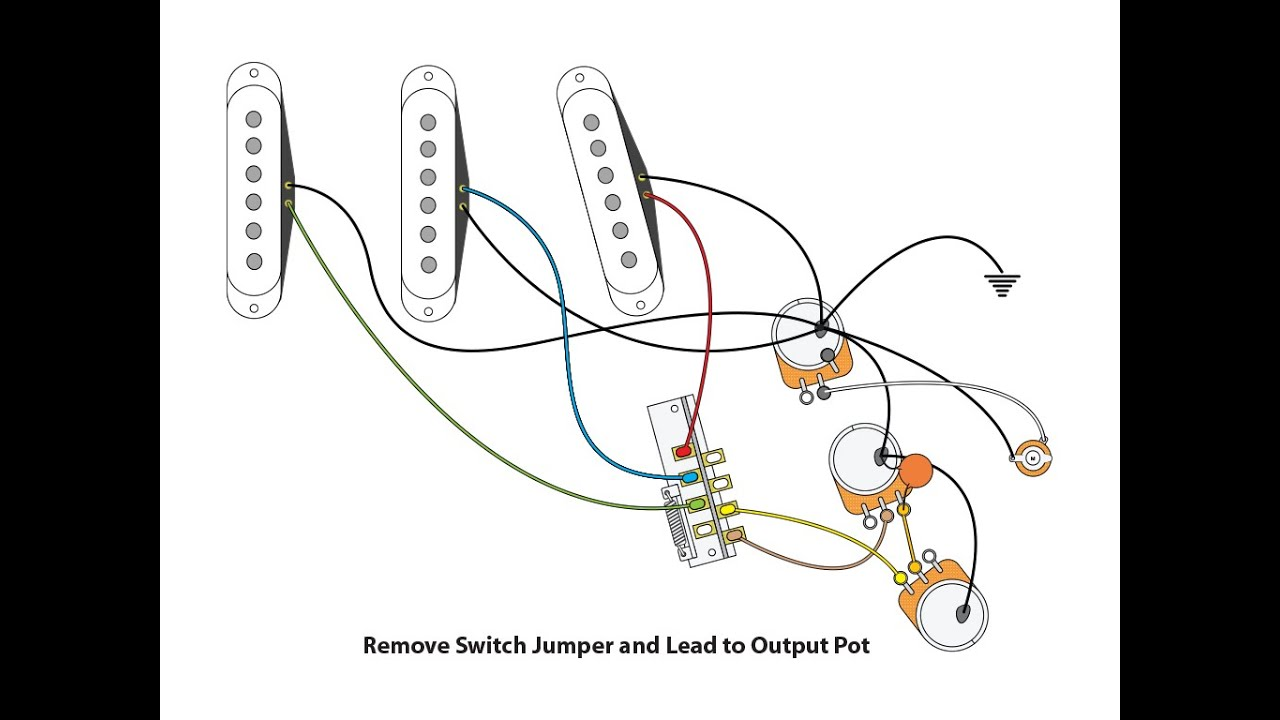 50 s or vintage style wiring for a stratocaster youtube squier stratocaster wiring diagram 50s strat wiring diagram [ 1024 x 768 Pixel ]