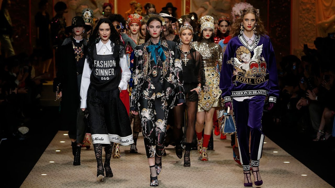 fe1dc53621fa Dolce Gabbana Fall Winter 2018 19 Women s Fashion Show - YouTube