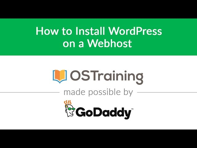 WordPress Beginner Tutorial #4: How to Install WordPress on a Webhost