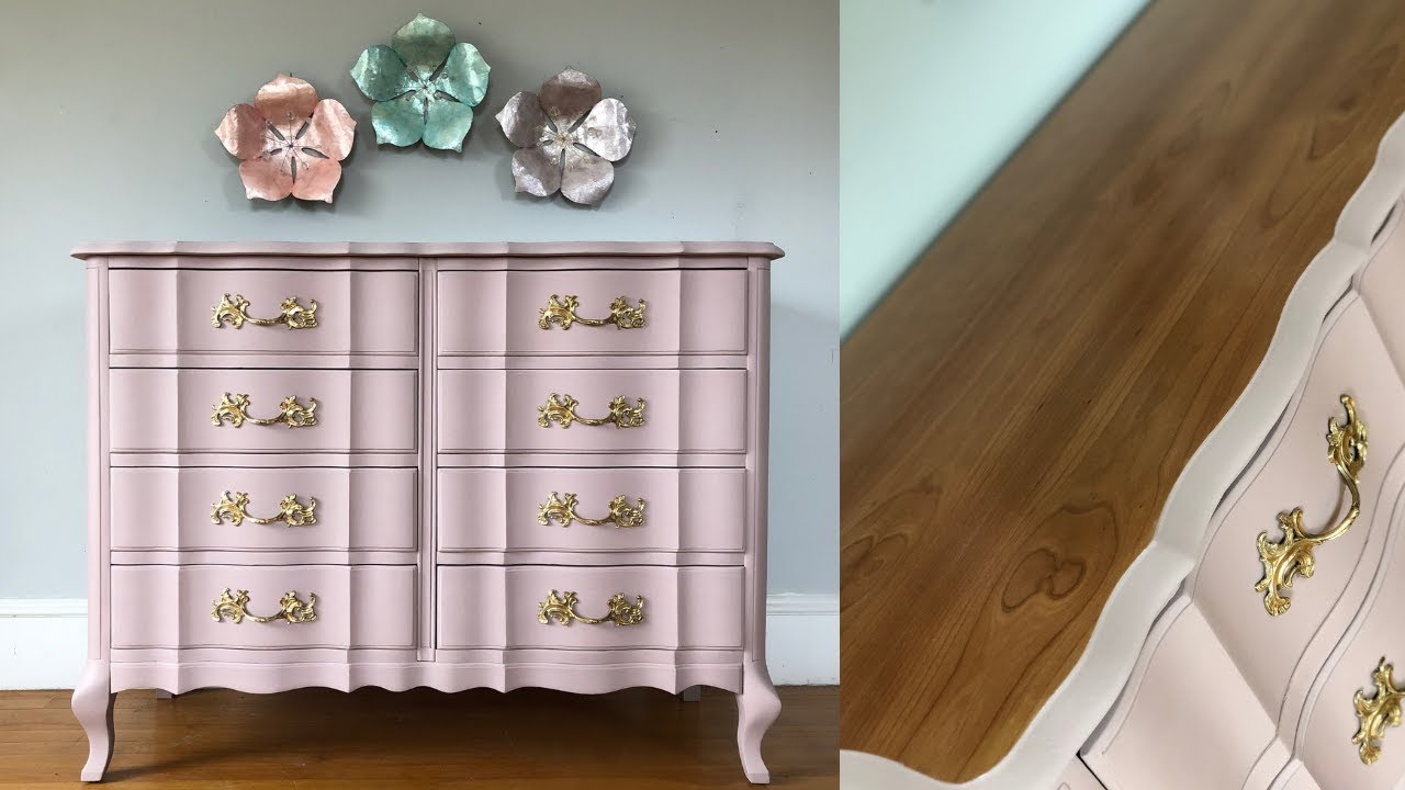 French Provincial Console Table Makeover W Chalk Paint Youtube