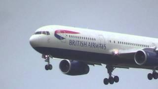 British Airways 767-300ER Landing at Toronto Pearson Int
