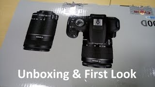 [Hindi - हिन्दी] Canon EOS 1200D DSLR Camera Unboxing and First Look
