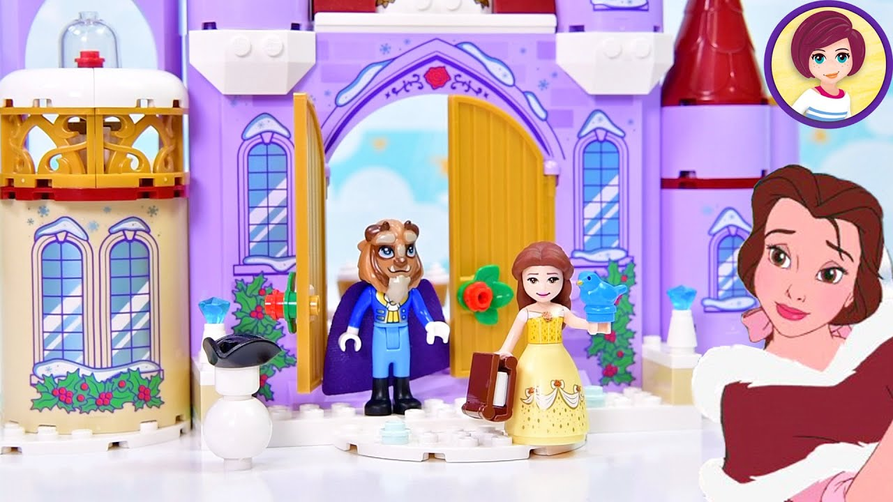 Lego Disney Princess Belle's Castle Winter Celebration Build & Review