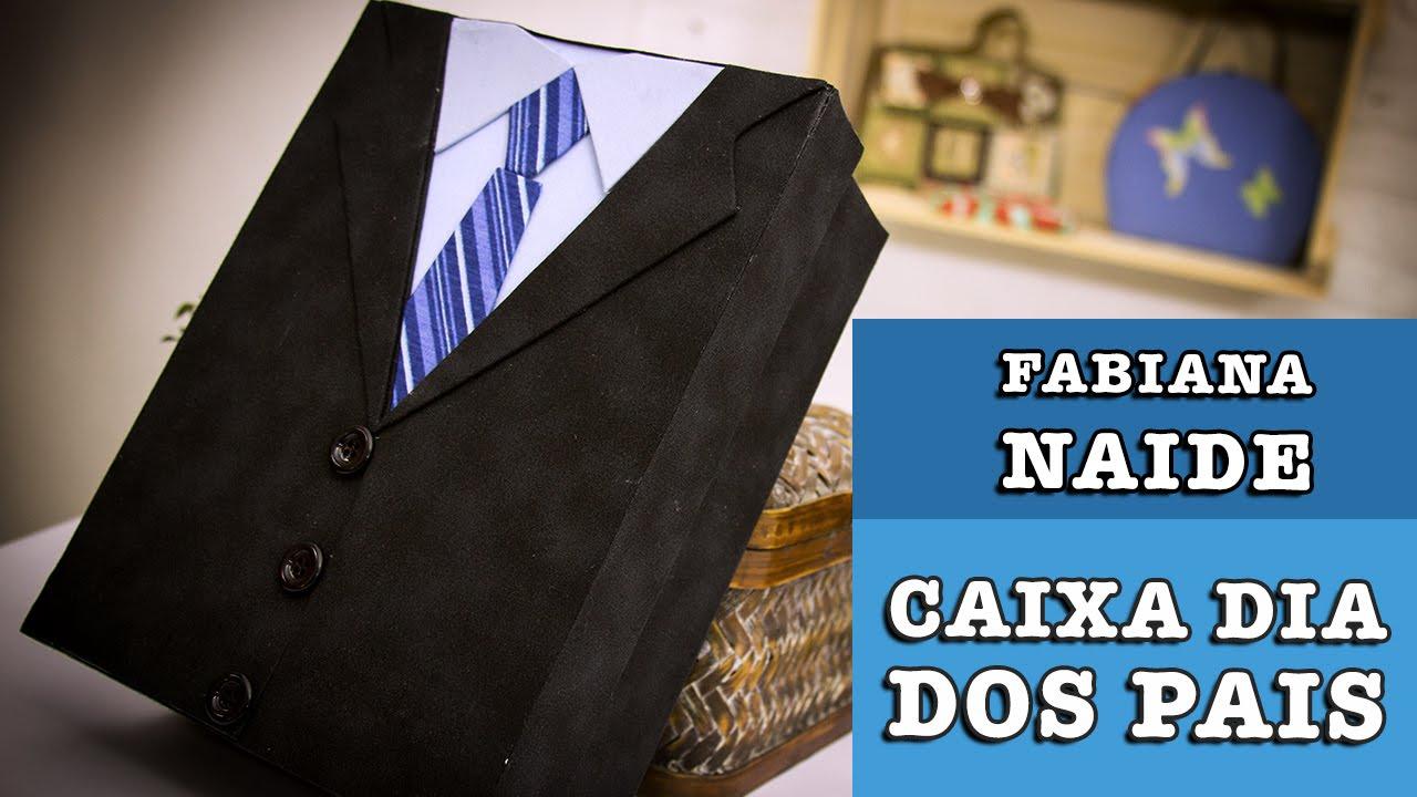 Armario Empotrado Sinonimos ~ 06 08 2014 Caixa em Cartonagem para o Dia dos Pais (Fabiana Naide) YouTube
