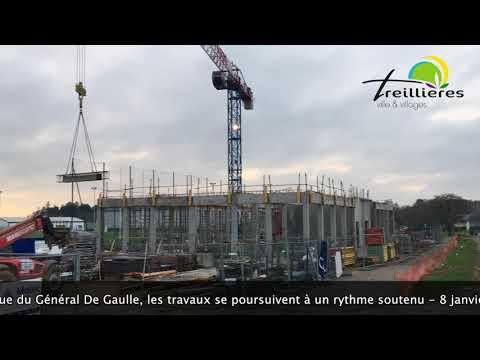Travaux avenue du Général De Gaulle (8 janvier 2018)