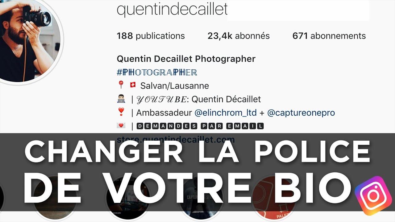 Comment Utiliser Des Polices Différentes Dans Sa Bio Instagram