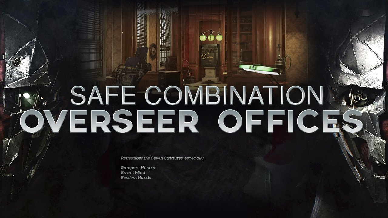 dishonored safe codes 2
