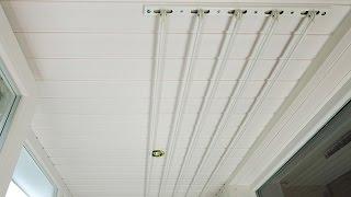 видео Потолочная сушилка для белья на балкон