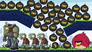 Angry Birds Fry Zombies - KICK ALL TNT TO BURN ZOMBIES FULL GAMEPLAY!