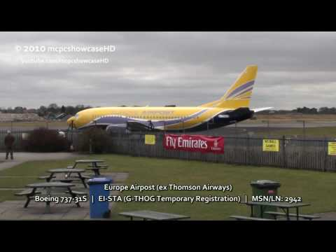 Europe Airpost 733 | Take Off | 23R Manchester Airport