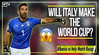 WILL ITALY EVEN MAKE IT TO THE WORLD CUP?!   Albania vs Italy 0-1 Match Recap