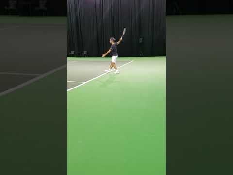 Federer practicing in Rotterdam February 15th, 2018