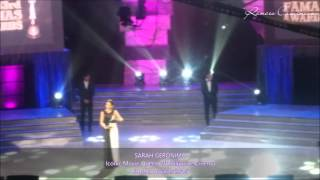 Sarah Geronimo - Multi-Awarded Box Office Queen and Iconic Movie Queen of PH Cinema by FAMAS 2015