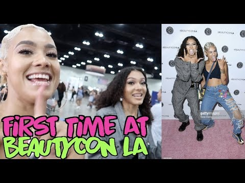 OUR FIRST TIME AT BEAUTYCON LA 😱💖💄