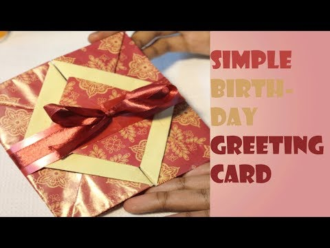 Simple Greeting Card Making Tutorial Opening Box Birthday
