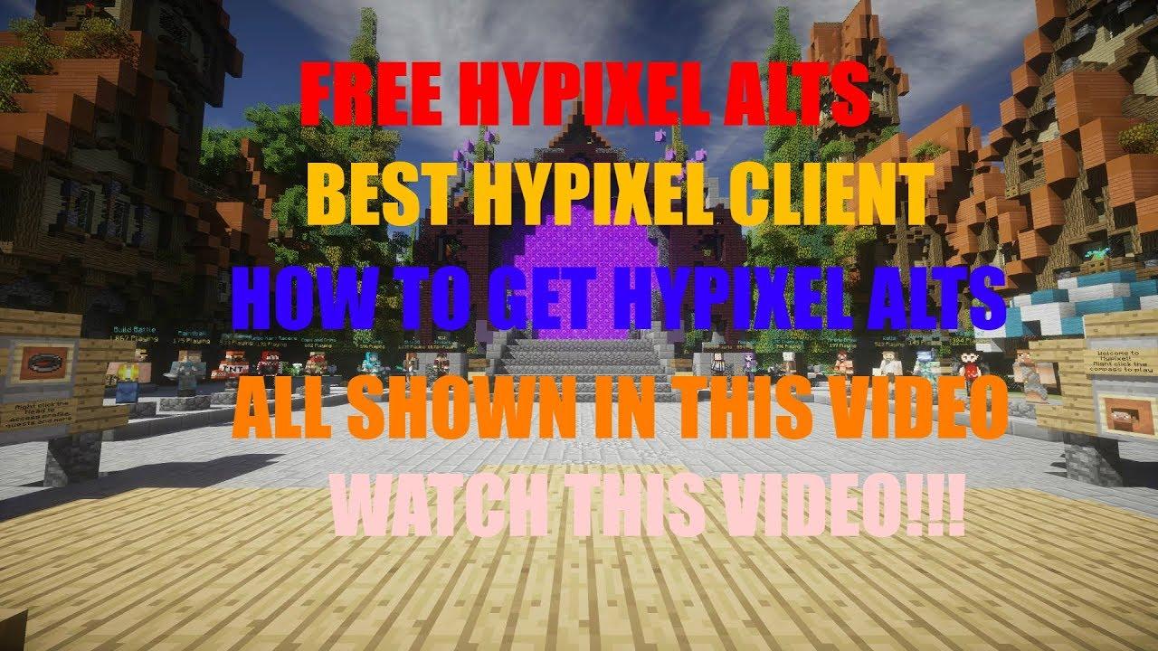 BEST HYPIXEL CLIENT   FREE HYPIXEL ALT METHOD FREE ALTS