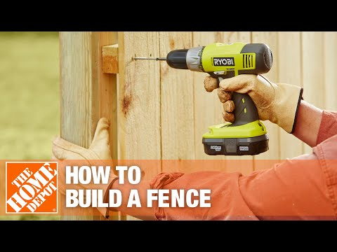 how-to-build-a-fence-part-2-|-the-home-depot