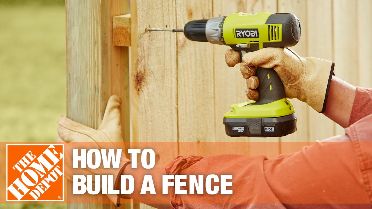 how to build a fence part 2 the home depot youtube. Black Bedroom Furniture Sets. Home Design Ideas