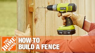 How to Build a Fence Part 2 - The Home Depot(, 2009-03-18T19:30:02.000Z)