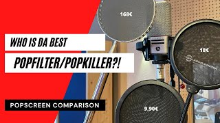 WHO IS DA BEST POPFILTER?!? | Recording Studio Popscreen/Popkiller Comparison