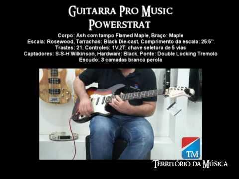 Guitarra Pro Muic Power Strat em Ash - Território da Música