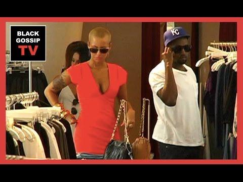 Kanye West & Amber Rose SHOPPING together in Beverly Hills