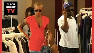 Kanye West & Amber Rose SHOPPING together in Beverly Hills