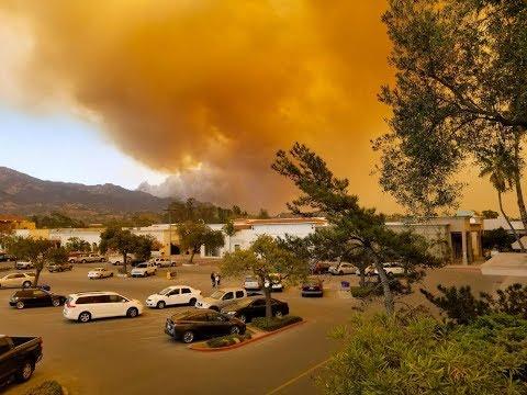 Massive Thomas Fire has reached Santa Barbara