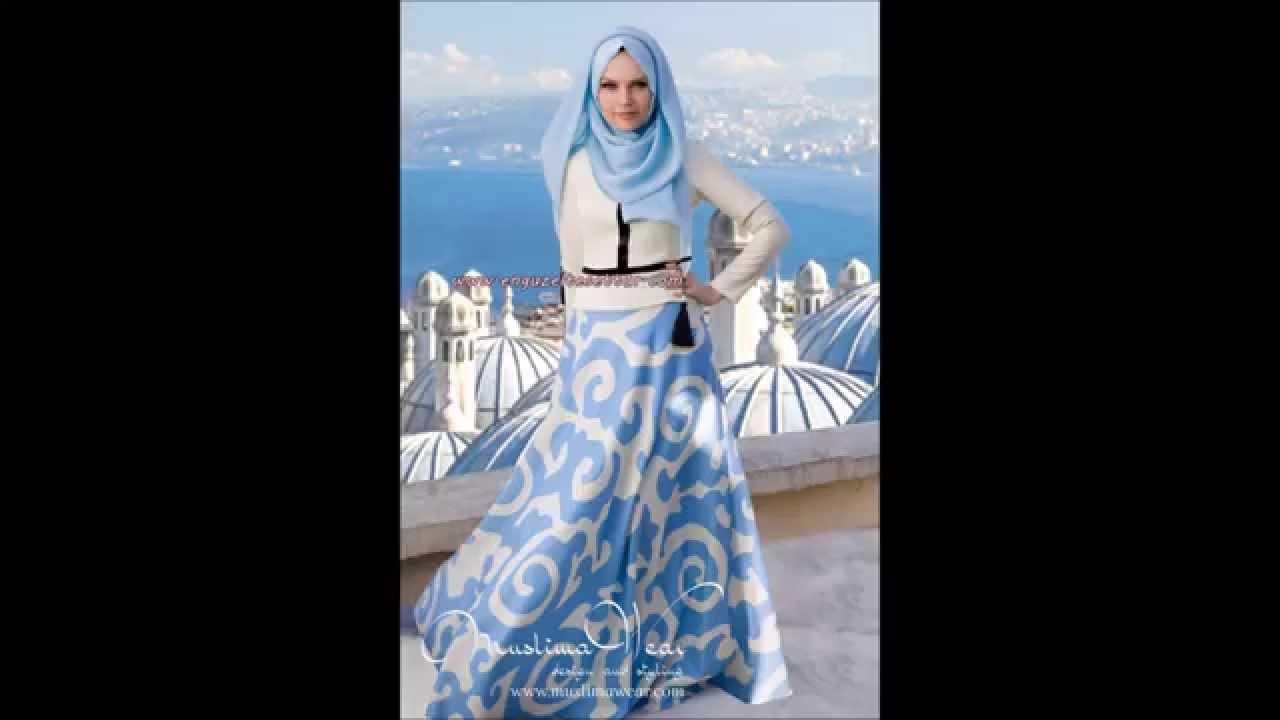 905cd15a6bb67 Muslima Wear 2015 uzun tesettür elbise etek ceket bluz şal modelleri ...