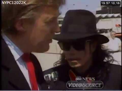 1990 Michael Jackson & Donald Trump Visit Ryan White's Family the Day Ryan Died