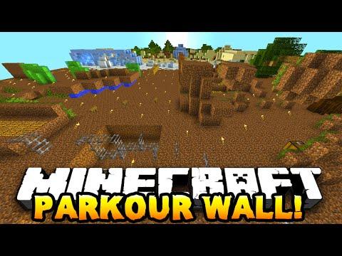 Minecraft INSANE WALL PARKOUR! (Epic Parkour Map) #1 w/PrestonPlayz & MrWoofless