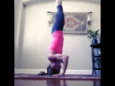 tripod headstand to crow pose  compound yoga pose  youtube