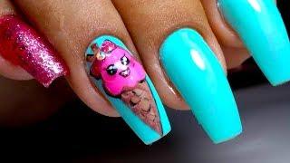 Летний маникюр мороженое. Модный дизайн ногтей с яркими тонами