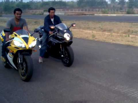 gsxr 1000 vs yamaha R1 irfan - YouTube