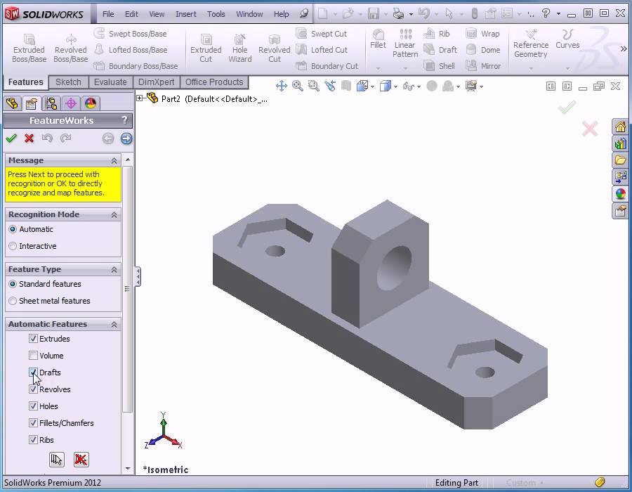 Solidworks 2012 Video Tutorial - Basic Training - How to import ...