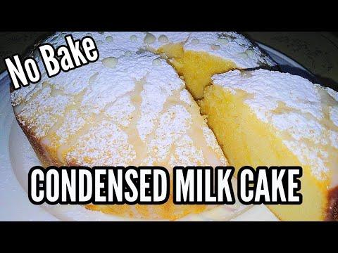 EASY CONDENSED MILK CAKE (madali Lang)   Condensed Milk Recipe   Taste Buds PH