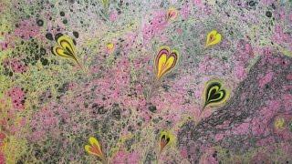 ЭБРУ - рисование на воде. СЕРДЕЧКИ(Необычный способ рисования - ЭБРУ - рисование на воде. Рисунок с поверхности воды перенесен на лист бумаги...., 2015-11-21T15:20:09.000Z)