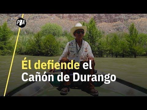 Él defiende la mayor reserva natural de Durango, el Cañón de Fernández